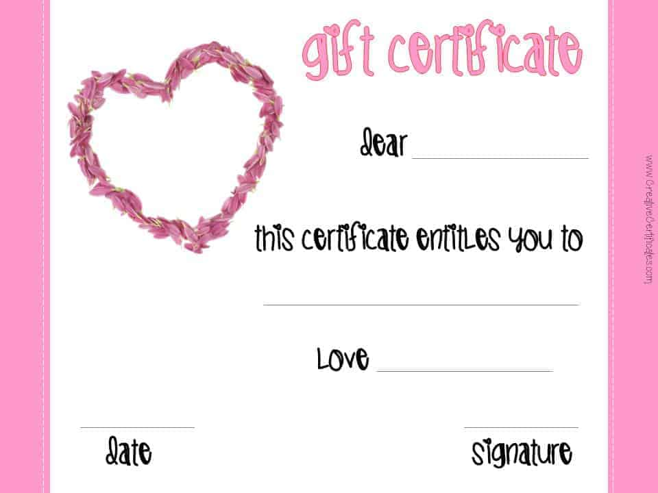 this certificate entitles the bearer to template
