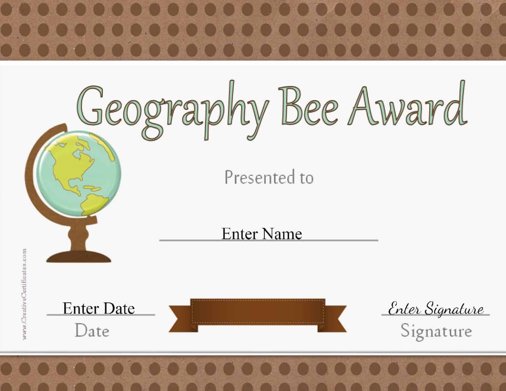 Graduation gift certificate template free 5 certificate of graduation gift certificate template free geography bee awards yelopaper Images