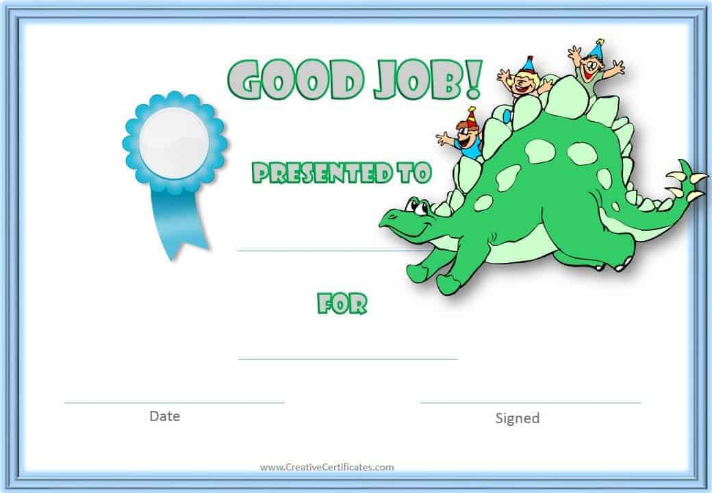 template for awards certificate