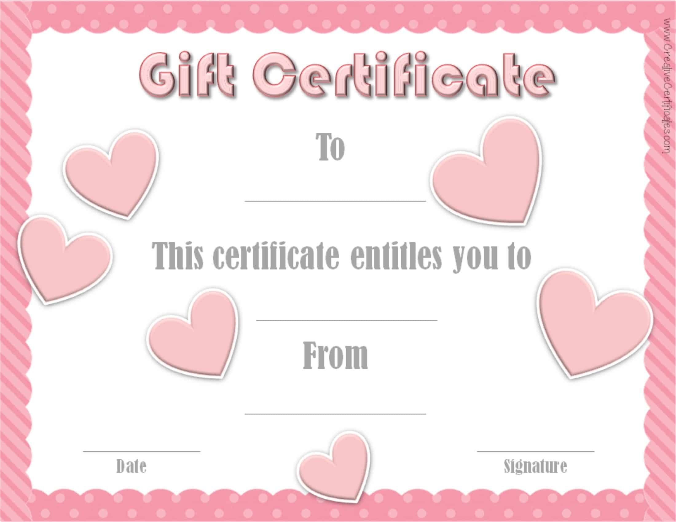 valentines gift certificates