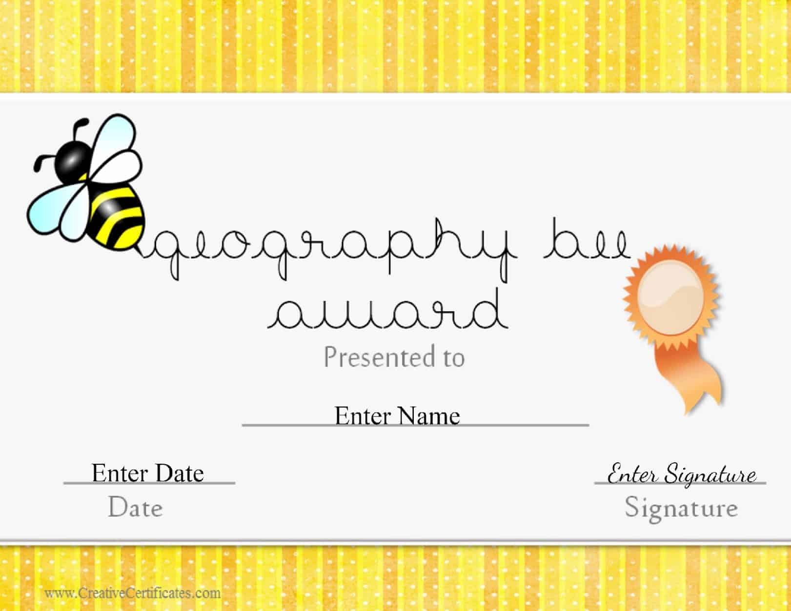 geography bee awards